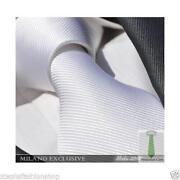Plain White Silk Tie