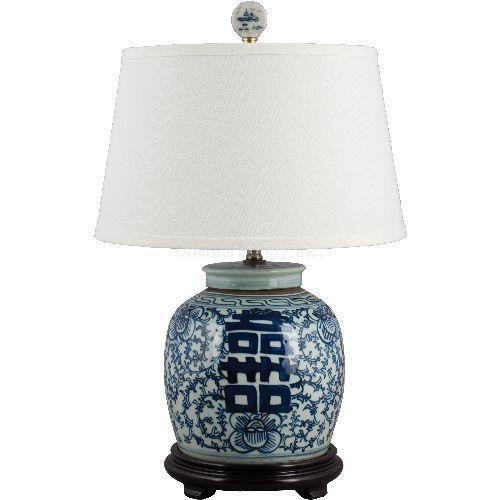 White Ginger Jar Lamp Ebay