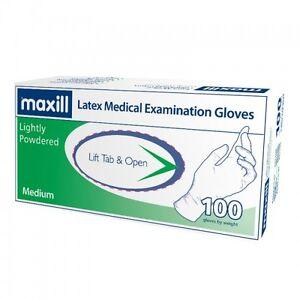 maxill Latex Gloves- Powdered or Powder Free, medical grade