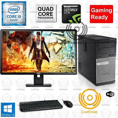 Fortnite GTA COD Gaming PC Desktop Computer QuadCore i5 750TI 8GB Monitor Bundle