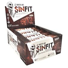 Sinister Labs SINFIT High Protein Bar 30g - Box of 12 Bars CHOCOLATE CRUNCH