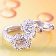 White Gold CZ Earrings