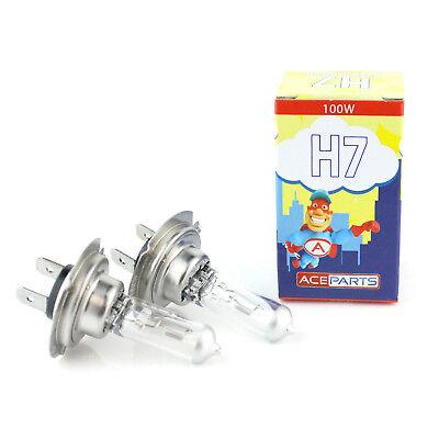 H7 100w Clear Halogen Xenon HID High Main Full Beam Headlight Bulbs