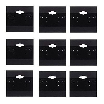 200pk Black Earring Display Cards Wholesale Bulk 2x2 Jewelry Packaging Displays