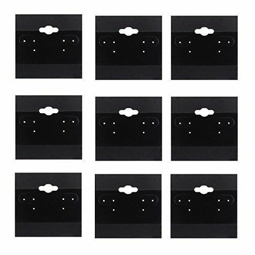 100pk Black Earring Display Cards Wholesale Bulk 2x2 Jewelry Packaging Displays