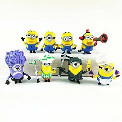 Despicable Me Minions 8x Figures Set: Ninja Baker Golfer Dave Stuart Kevin & Bob