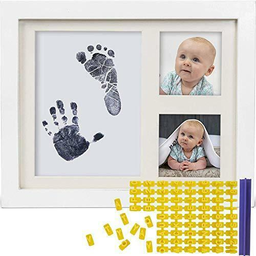 Baby Ink Hand and Footprint Kit – Handprint Picture Frame for Newborns (Safe