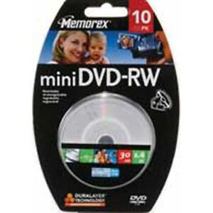 Memorex Mini Disc 2X 1.4GB/30 min DVD-RW - 10 pack