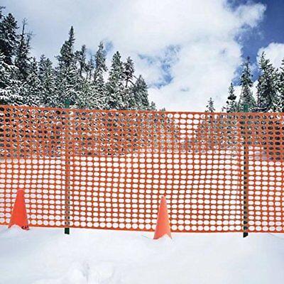 "Safety Fence Snow Fencing,Deer Netting Plastic Barrier Orange 39""x49"