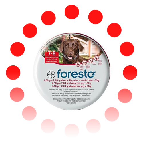 Изображение товара Foresto/Seresto flea&tick collar for LARGE DOG over 18lbs (8kg)