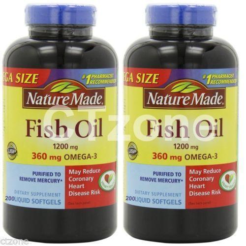 Nature made fish oil ebay for Salmon oil vs fish oil