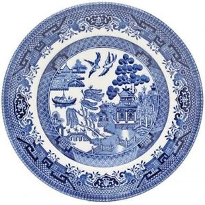 DINNER PLATE 26 CM CHURCHILL WILLOW BLUE TABLEWARE DINNERWARE PLATES SET OF 6