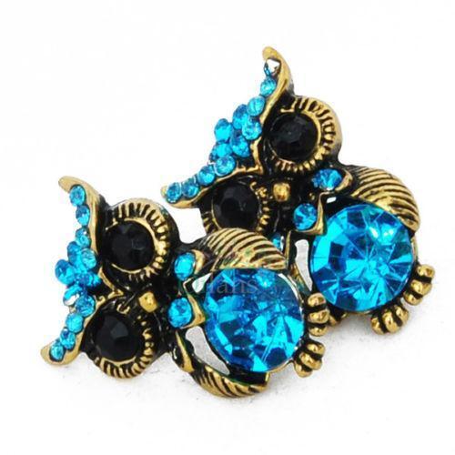 Gold Owl Earrings Ebay