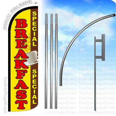 Breakfast Special - Windless Swooper Flag Kit Feather Banner Sign Yq