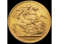 1928 FULL 22ct GOLD SOVEREIGN COIN