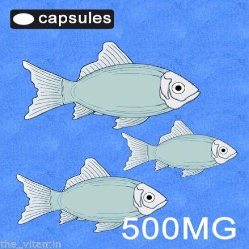 OMEGA 3 Fish Oil 500mg BUY in BULK ! 1000 Capsules ' ' (L)