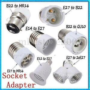 e12 e14 e27 b22 mr16 gu10 light lamp bulb holder base. Black Bedroom Furniture Sets. Home Design Ideas