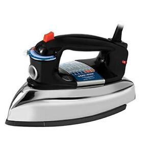 BLACK+DECKER Classic Iron, Black/Silver, model F67ED