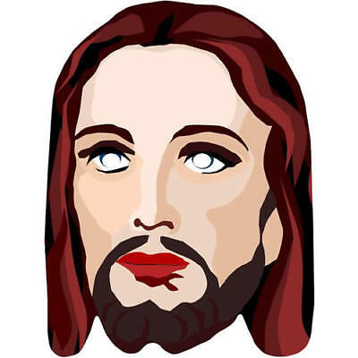 Jesus Animated Religious Card Fun Face Mask. All Our Masks Are - Jesus Mask