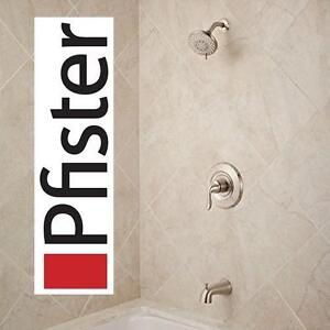 NEW PFISTER TUB  SHOWER TRIM UNIVERSAL, 1-Handle SINGLE CONTROL - BRUSHED STAINLESS STEEL FINISH 105898509