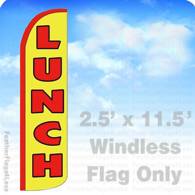 Lunch Windless Swooper Flag Feather Banner Sign 2.5x11.5 - Yz