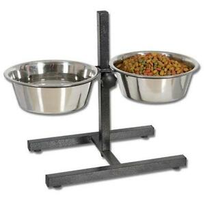 Dog Food And Water Bowls Top View