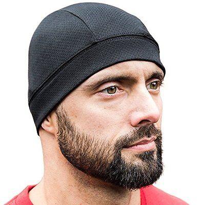 SKULL CAP BLACK 2 PACK , Best For Men Women As Helmet Liner, Thermal