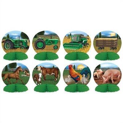 Farm Animal Tractors Mini Centerpiece Set 8 Pack Farm Birthday Party Decorations