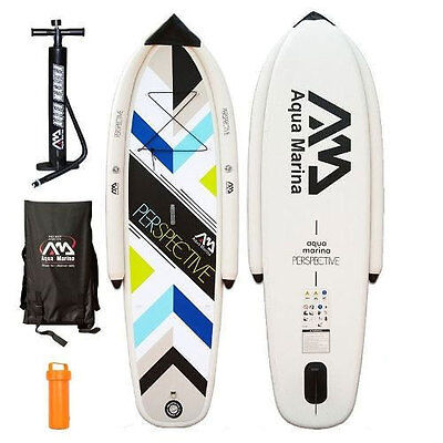 """Aqua Marina Perspective 9'9"""" Inflatable Stand Up Paddle Board ISUP SUP-516090"""