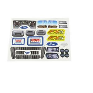 fisher price power wheels ford fx4 f 150 x0069 label decal sheet ebay. Black Bedroom Furniture Sets. Home Design Ideas