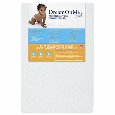 Dream On Me, Sunset 3  Extra Firm Fiber Portable Crib Mattre