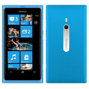Brand New Nokia Lumia 800 Phone Windows Phone 7.5 Mango 16GB 8MP Unlocked Cyan