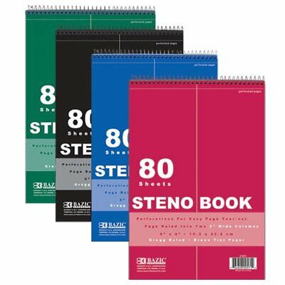 Steno Pad Green Tint Gregg Ruled Steno Book Blue Cover 80 Sheets