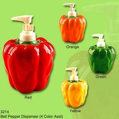 BELL PEPPER 3-Dimensional Soap/Lotion Dispenser (Bell Dispenser)