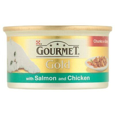 Purina Gourmet Gold Cat food - Salmon & Chicken in Gravy (12 pack)