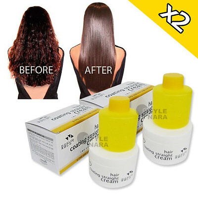X2 Coating Magic Straight Cream Hair Straightening Cream Permanent Rebonding
