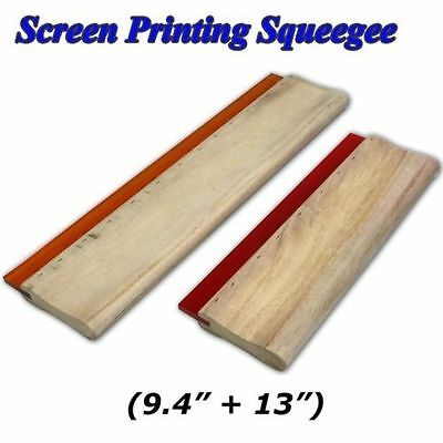 2 Pcs Screen Printing Wood Squeegee 13  9.4 Ink Scraper Press Hand Tool