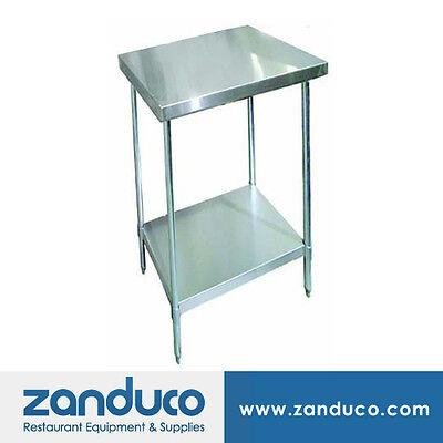 Zanduco Stainless Steel 24 X 24 Commercial Prep Standard Worktable Nsf