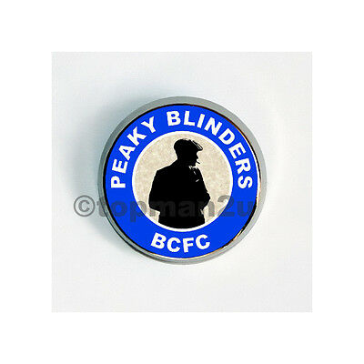New, Quality Circular Metal Pin Badge - Peaky Blinders BCFC Birmingham - Blue