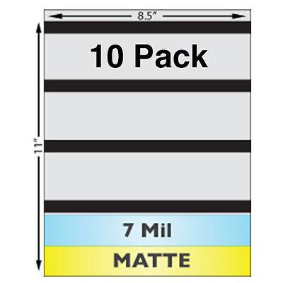 7 Mil Matte Full Sheet 8.5 X 11 Laminates W Magnetic Stripes - 10 Pack