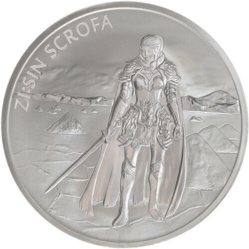 2019 South Korea Zi:Sin Scrofa 1 oz .999 Silver Medal (in air-tite capsule)