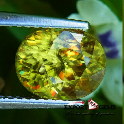 UNHEATED 3.27CT BEAUTIFUL NATURAL YELLOW OVAL SPHENE