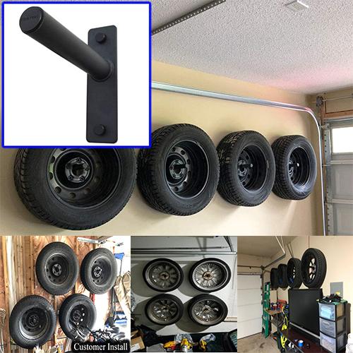 Car Wheel Storage Wall Hangers Set of 4 Tire Rack For Garage