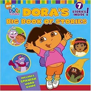 Dora's Big Book of stories - Includes Spanish word guide.