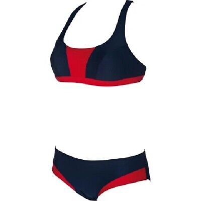 Bikini Damen ARENA Sporty Crossed Top 1B401 Gr.36 Fb.navy/red NEU