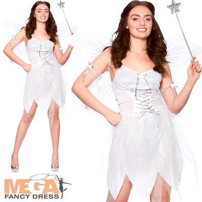 Good Fairy Ladies Fancy Dress Christmas Angel Womens Adults Halloween Costume   - Good Angel Costumes