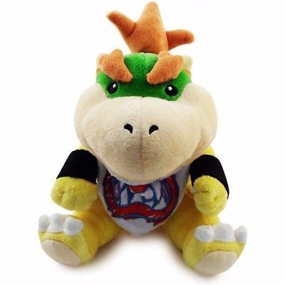 "Baby Bowser Jr 7"" Plush Super Mario Bros. Little Buddy Toy Stuffed Doll Koopa"
