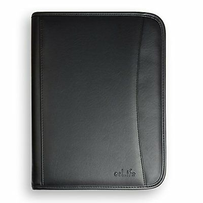 Executive Folder - A4 Executive Folder PU Leather Portfolio Document File with Letter Size Writing