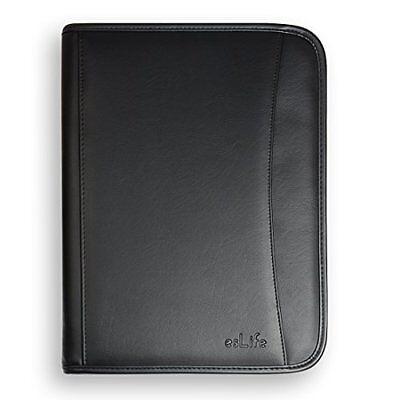 A4 Executive Folder Pu Leather Portfolio Document File With Letter Size Writing
