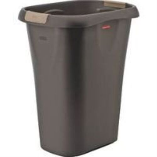 RUBBERMAID FG5L6000CSHM Large Open Wastebasket with Liner Lock, 32 quart